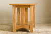 Mission style red oak end table
